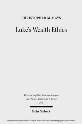 Luke's Wealth Ethics
