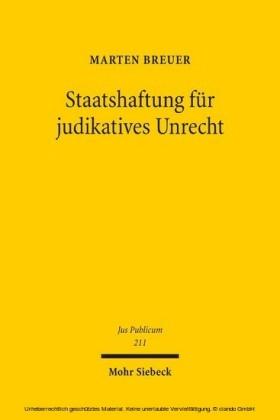 Staatshaftung für judikatives Unrecht