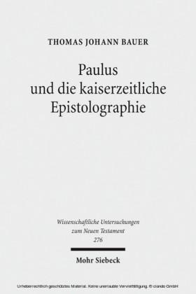 Paulus und die kaiserzeitliche Epistolographie