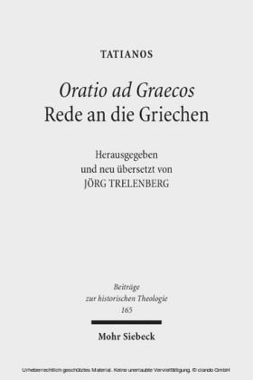 Oratio ad Graecos / Rede an die Griechen