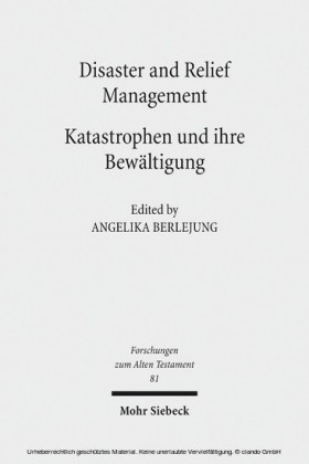 Disaster and Relief Management - Katastrophen und ihre Bewältigung