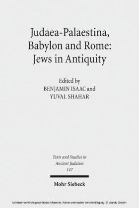 Judaea-Palaestina, Babylon and Rome: Jews in Antiquity