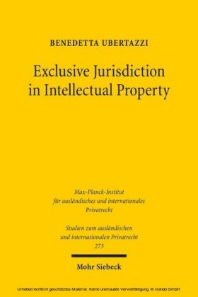 Exclusive Jurisdiction in Intellectual Property