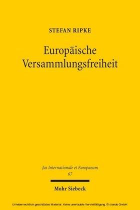 Europäische Versammlungsfreiheit