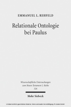 Relationale Ontologie bei Paulus