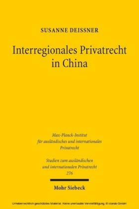 Interregionales Privatrecht in China