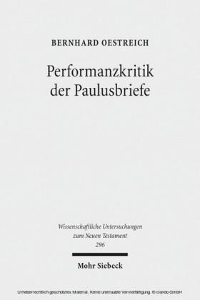 Performanzkritik der Paulusbriefe