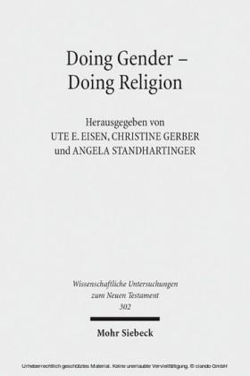 Doing Gender - Doing Religion