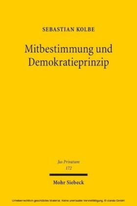 Mitbestimmung und Demokratieprinzip
