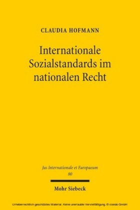 Internationale Sozialstandards im nationalen Recht