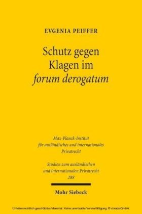 Schutz gegen Klagen im forum derogatum