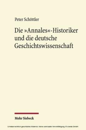 Die 'Annales'-Historiker und die deutsche Geschichtswissenschaft