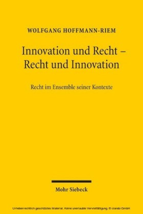 Innovation und Recht - Recht und Innovation