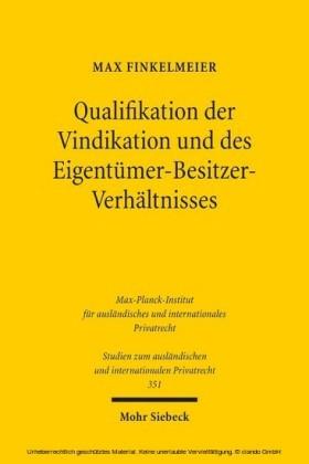Qualifikation der Vindikation und des Eigentümer-Besitzer-Verhältnisses