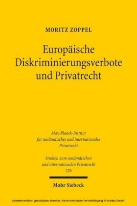 Europäische Diskriminierungsverbote und Privatrecht