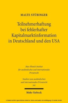 Teilnehmerhaftung bei fehlerhafter Kapitalmarktinformation in Deutschland und den USA