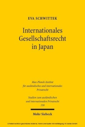 Internationales Gesellschaftsrecht in Japan