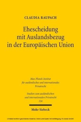 Ehescheidung mit Auslandsbezug in der Europäischen Union