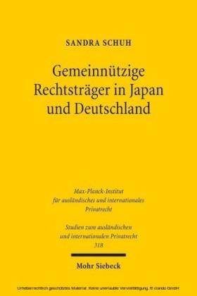 Gemeinnützige Rechtsträger in Japan und Deutschland