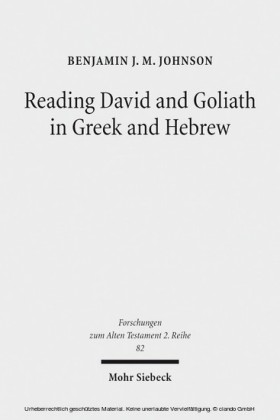 Reading David and Goliath in Greek and Hebrew