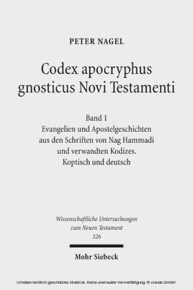 Codex apocryphus gnosticus Novi Testamenti