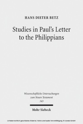 Studies in Paul's Letter to the Philippians