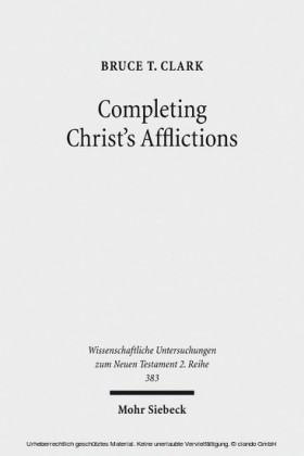 Completing Christ's Afflictions