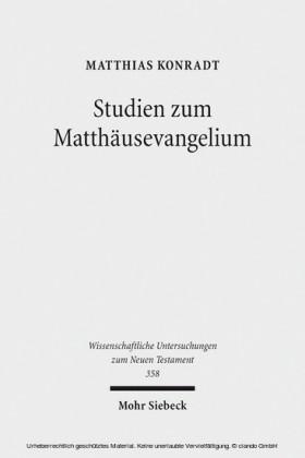 Studien zum Matthäusevangelium