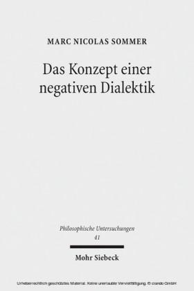 Das Konzept einer negativen Dialektik