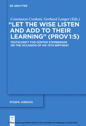 'Let the Wise Listen and add to Their Learning' (Prov 1:5)