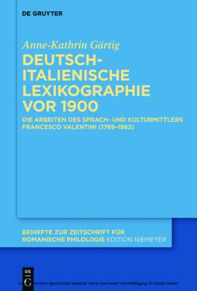Deutsch-italienische Lexikographie vor 1900