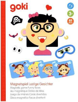 Magnetspiel Lustige Gesichter, Mädchen (Kinderspiel)