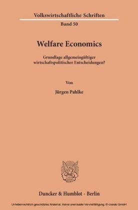 Welfare Economics.