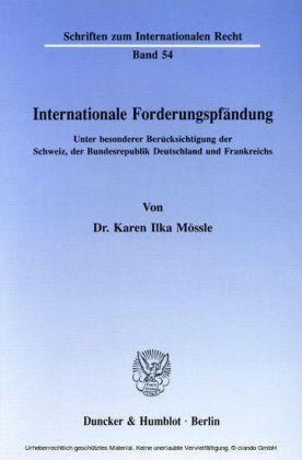 Internationale Forderungspfändung.