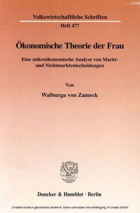 Ökonomische Theorie der Frau.