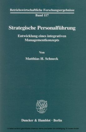 Strategische Personalführung.
