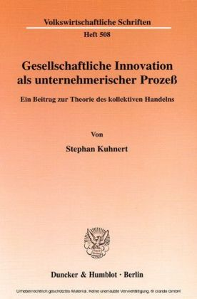 Gesellschaftliche Innovation als unternehmerischer Prozeß.