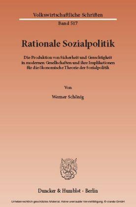 Rationale Sozialpolitik.