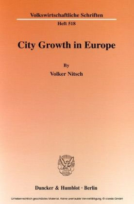 City Growth in Europe.