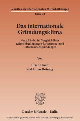 Das Internationale Gründungsklima.