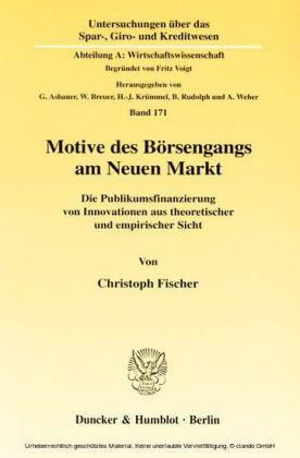 Motive des Börsengangs am Neuen Markt.