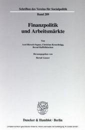 Finanzpolitik und Arbeitsmärkte.