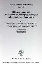 Bildungssystem und betriebliche Beschäftigungsstrategien in internationaler Perspektive.