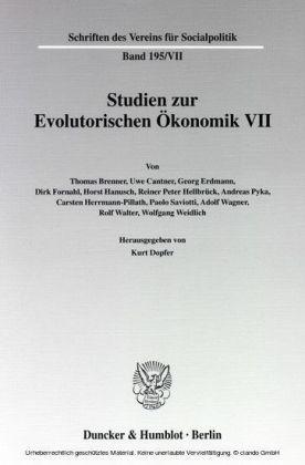 Studien zur Evolutorischen Ökonomik VII.