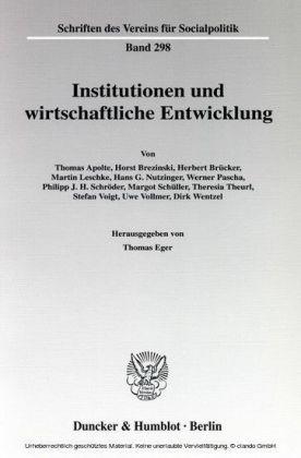 Institutionen und wirtschaftliche Entwicklung.