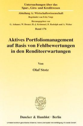 Aktives Portfoliomanagement auf Basis von Fehlbewertungen in den Renditeerwartungen.