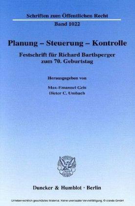 Planung - Steuerung - Kontrolle.