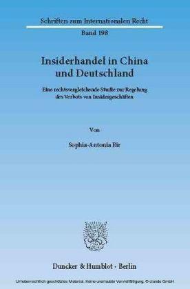 Insiderhandel in China und Deutschland.