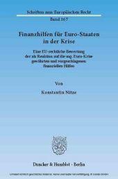 Finanzhilfen für Euro-Staaten in der Krise.