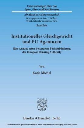 Institutionelles Gleichgewicht und EU-Agenturen.